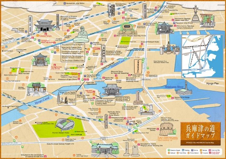 Hyogo tourist map
