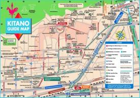 Kitano tourist map