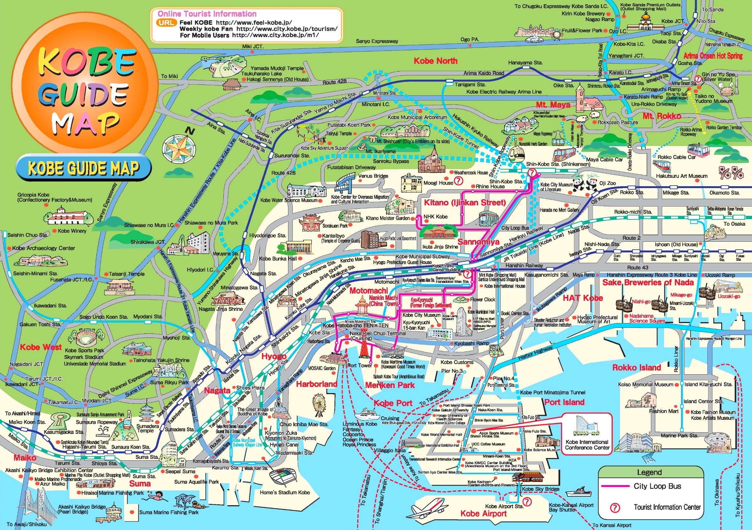 Kobe tourist map
