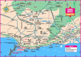 Kobe West tourist map