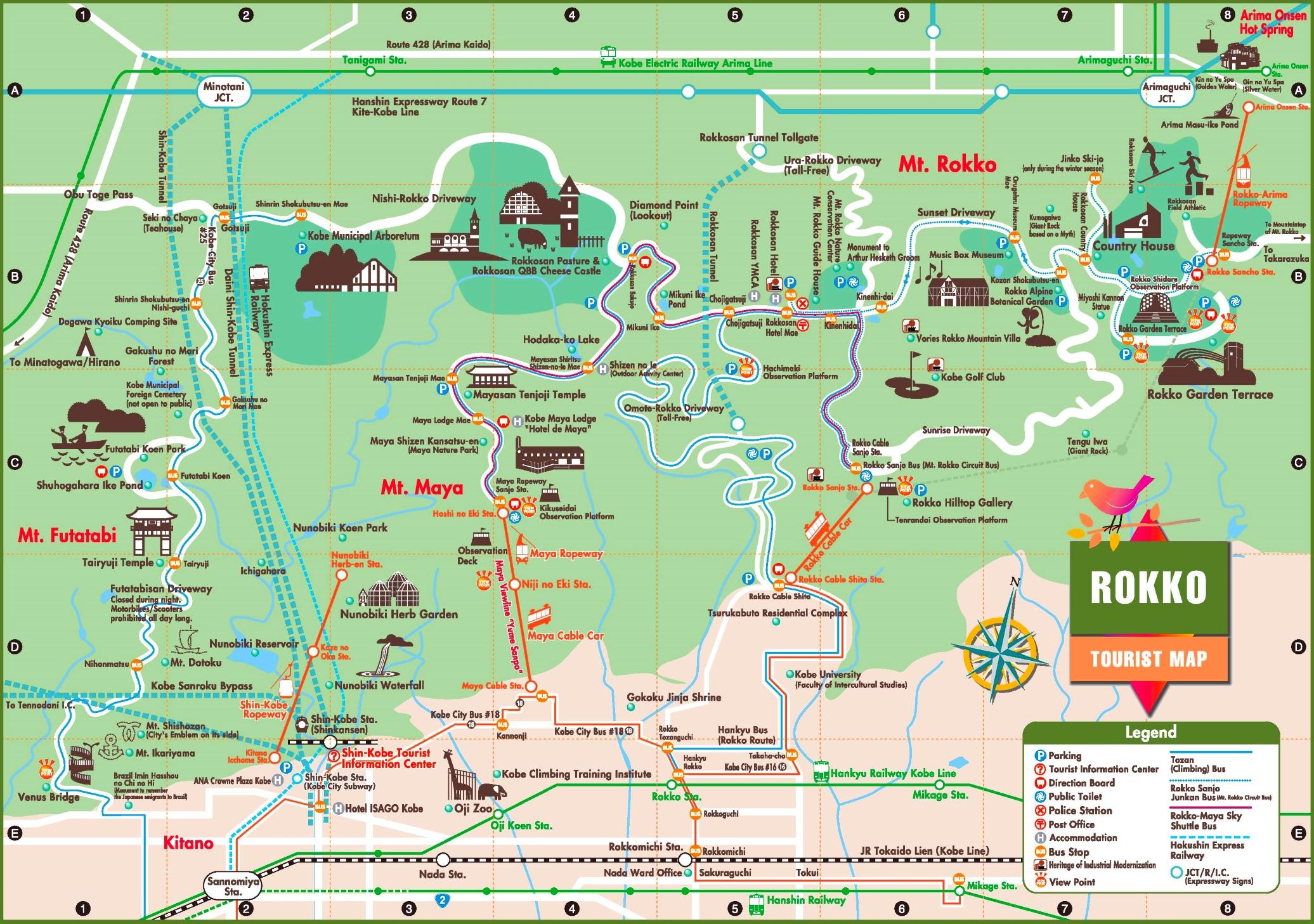 Mount Rokk tourist map
