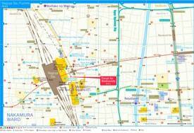 Nagoya station area map