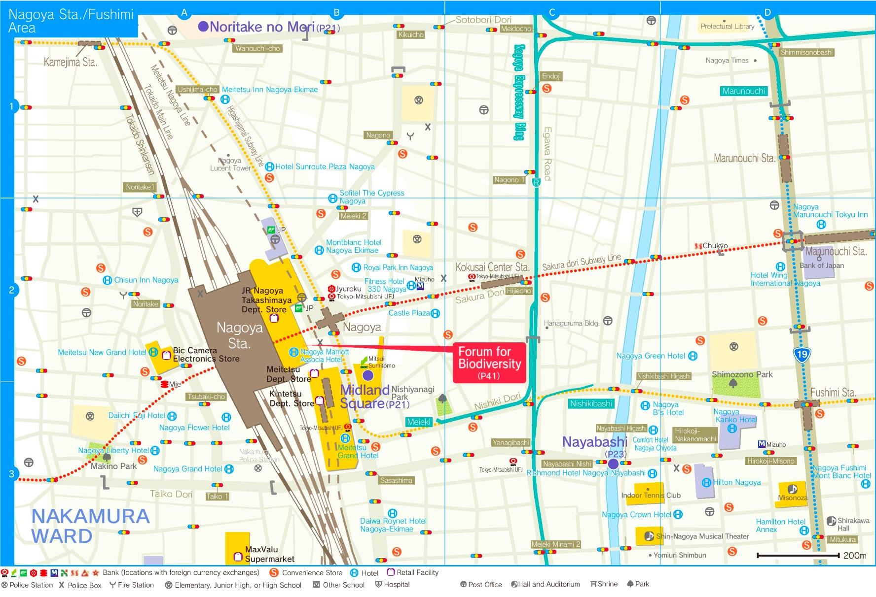 Nagoya station area map