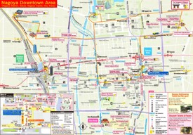 Nagoya tourist map