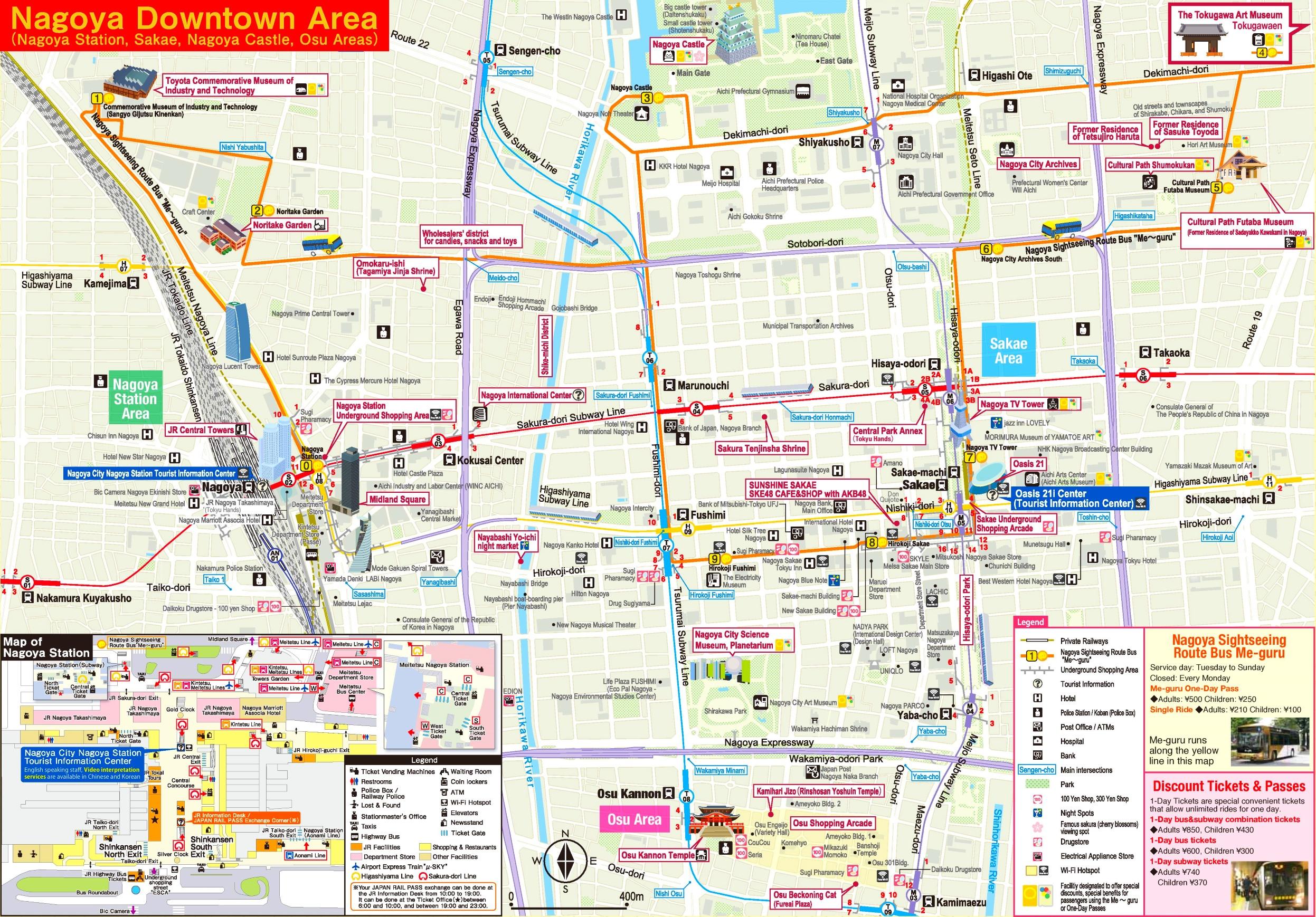 nagoya tourist map