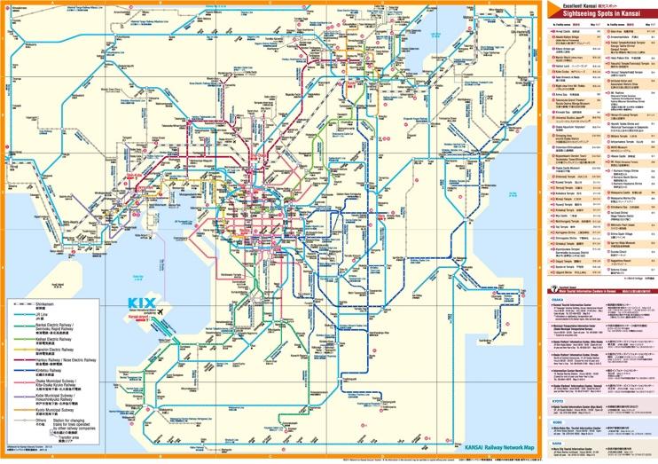Kansai rail map