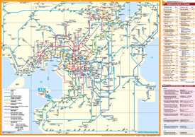 Kansai rail map