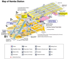 Namba Station Map