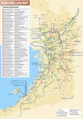Osaka area tourist map