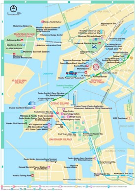 Osaka Bay Area Map