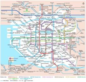 Osaka rail map