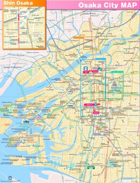 Osaka sightseeing map