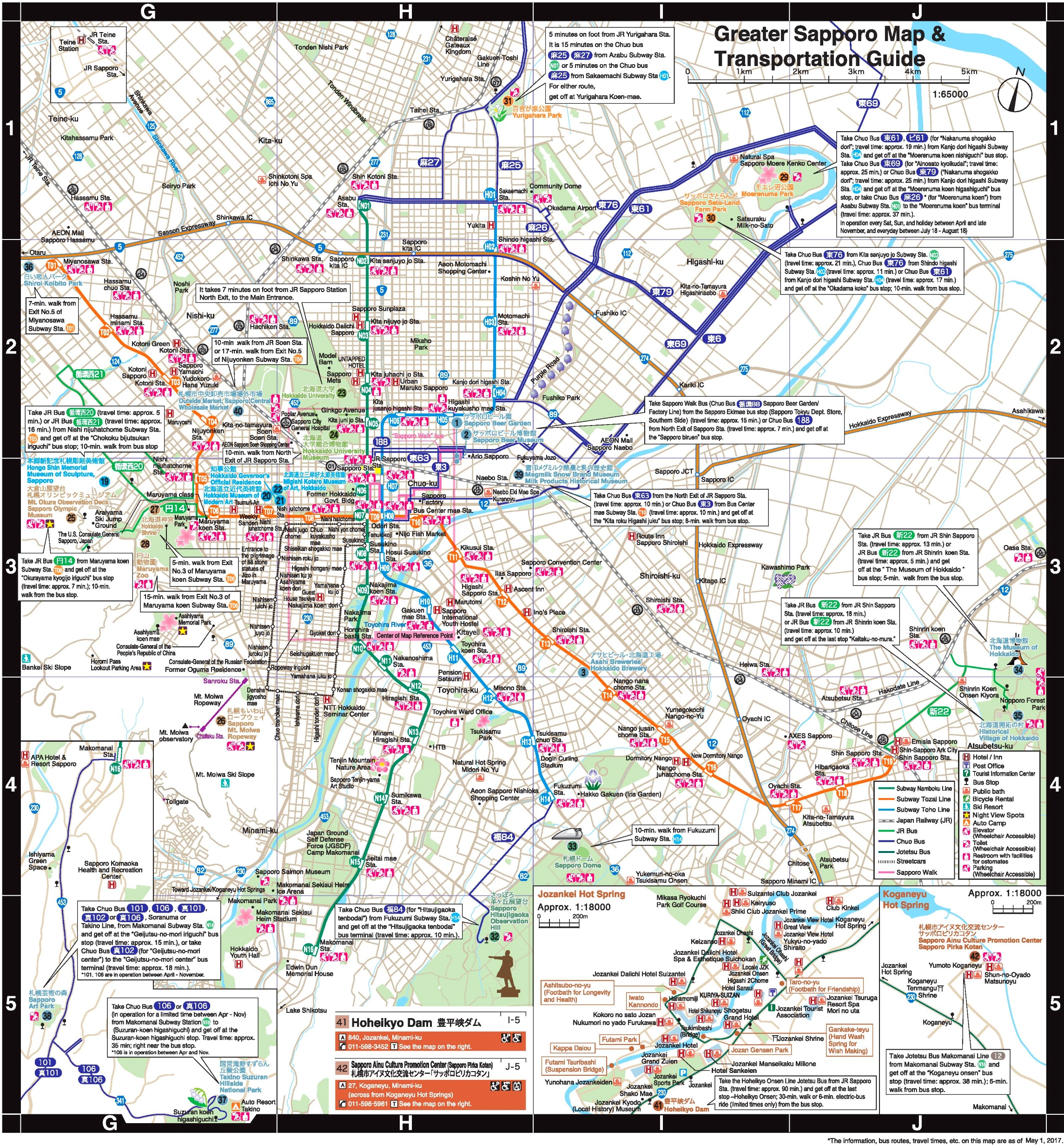 Greater Sapporo Map
