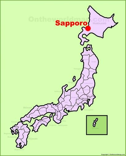 Sapporo Location Map