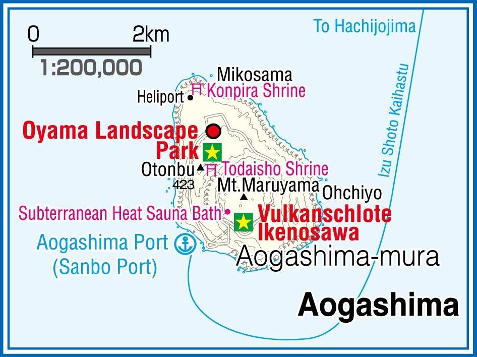 Aogashima Island map