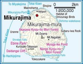 Mikurajima Island map