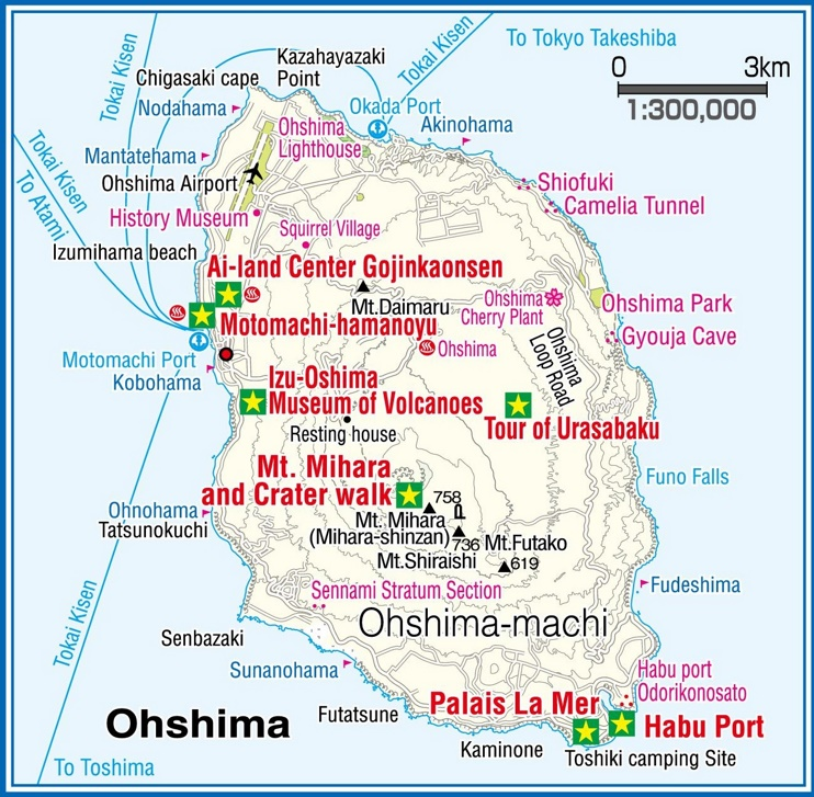 Ohshima Island map