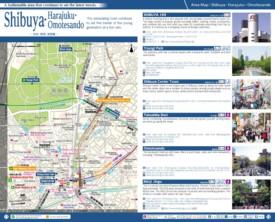 Shibuya Harajuku Omotesando map