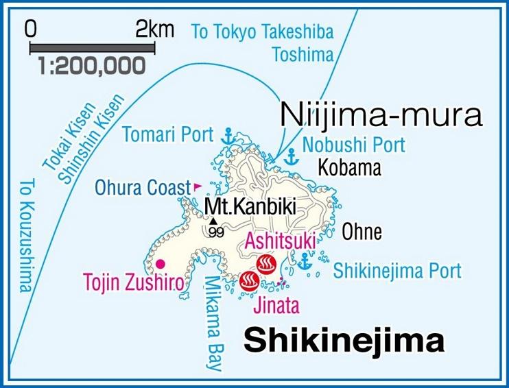 Shikinejima Island map