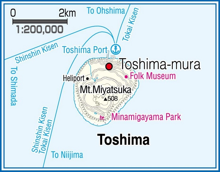 Toshima Island map