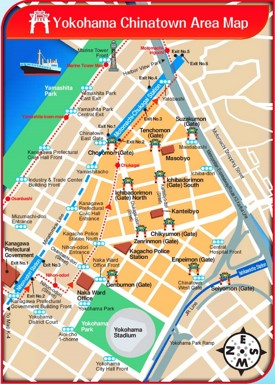 Yokohama Chinatown Map