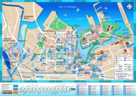 Yokohama downtown map