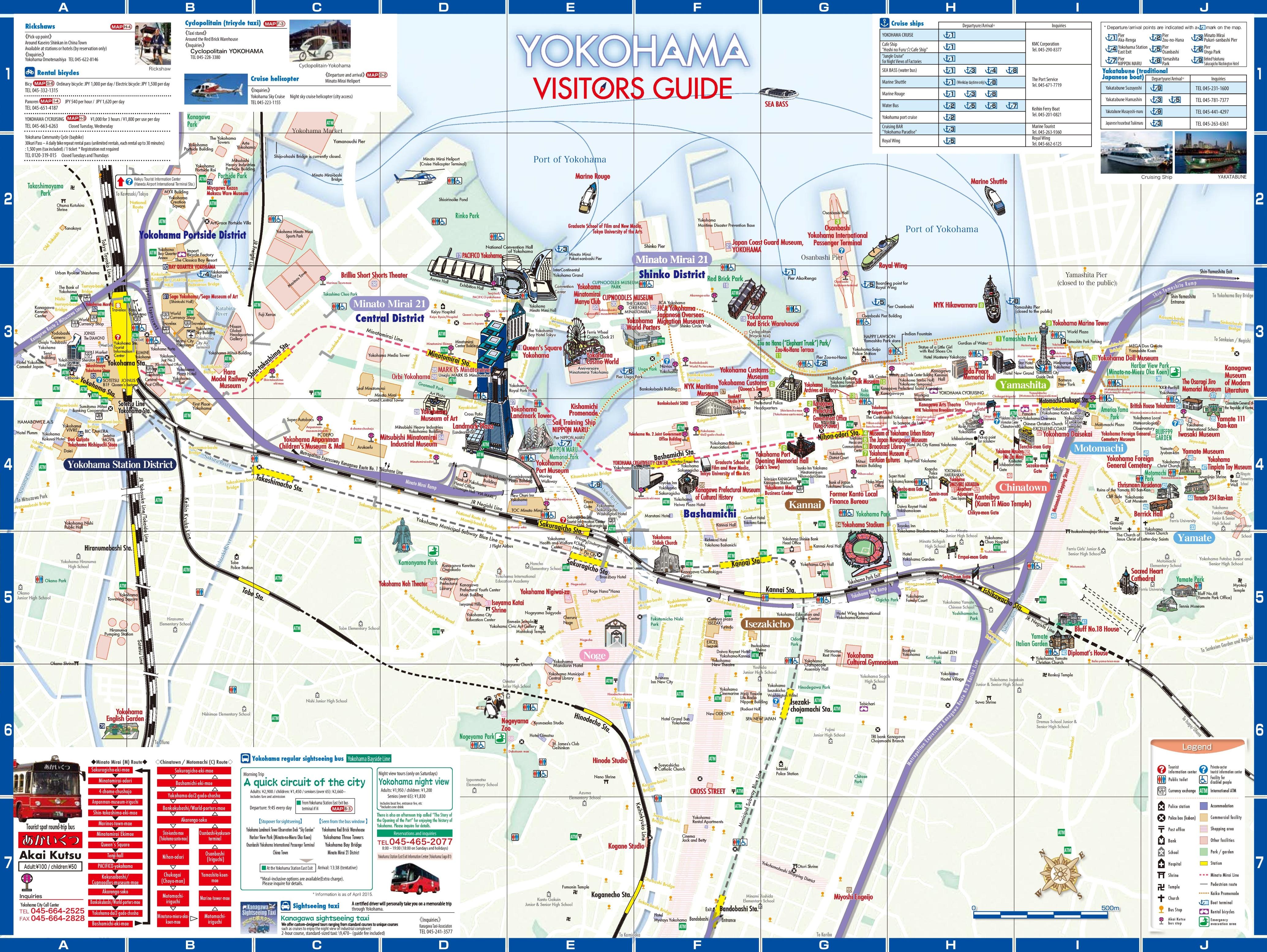 yokohama tourist map