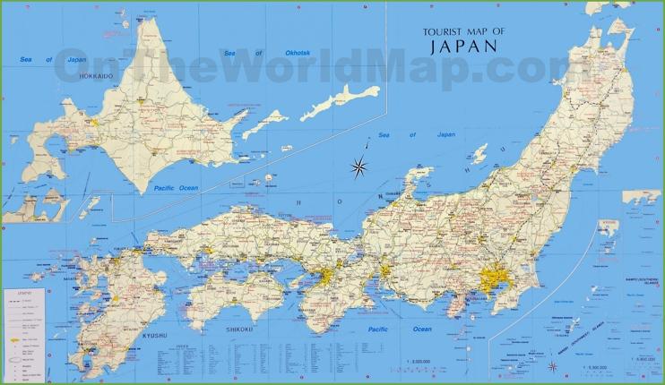 Japan tourist map