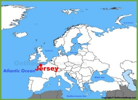 Jersey location on the Europe map
