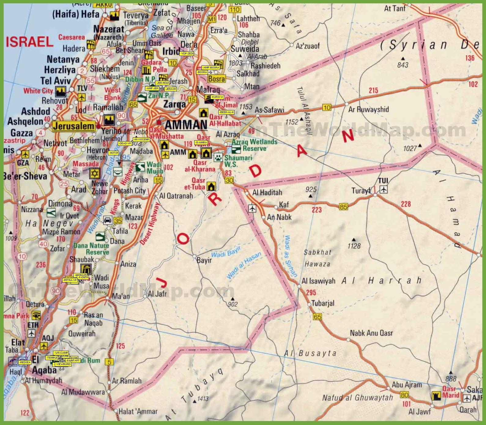 Jordan Maps Maps Of Jordan - Map of jordan