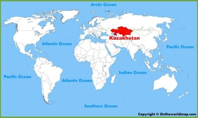 Kazakhstan Location Map