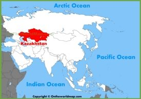 Kazakhstan location on the Asia map