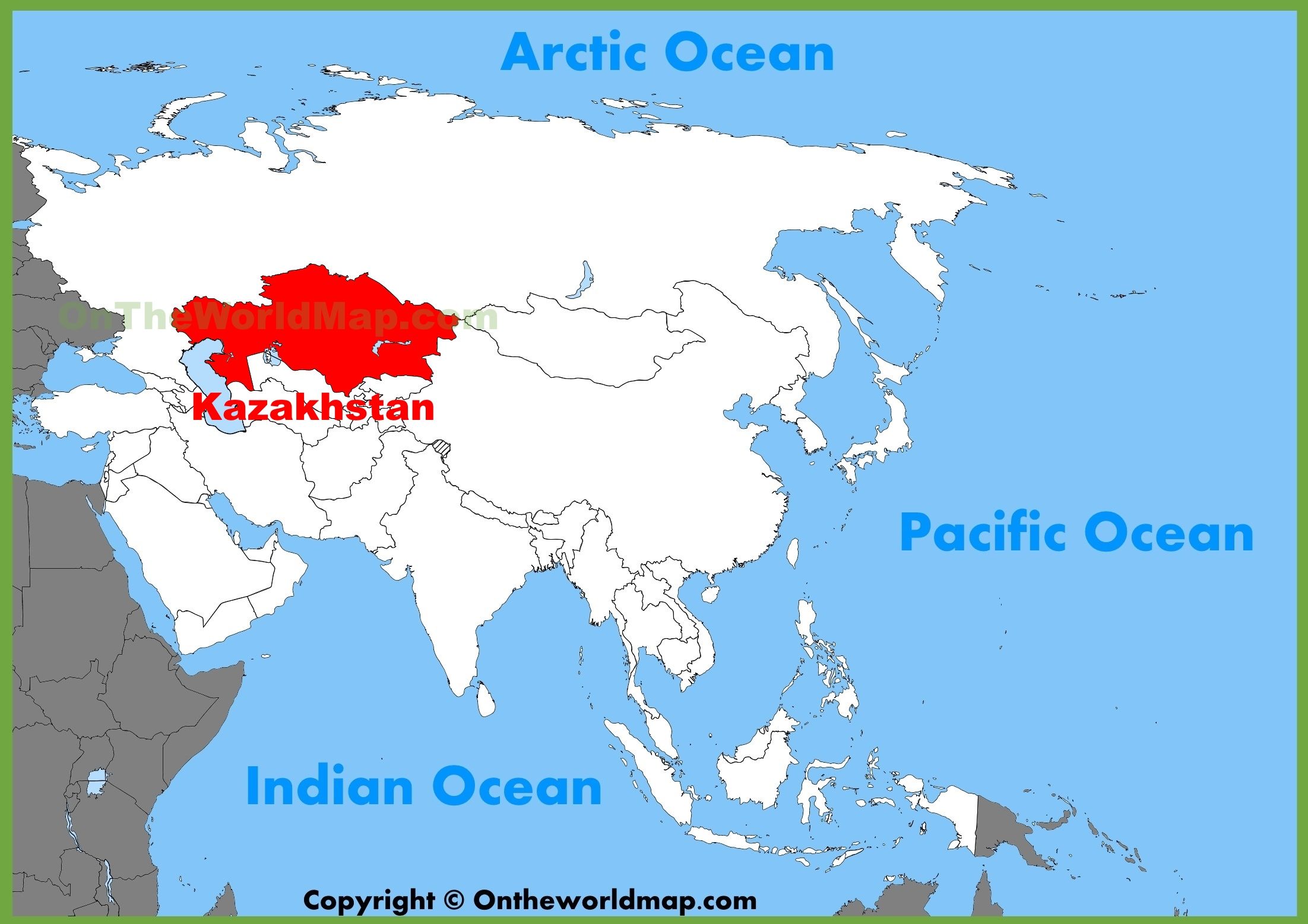 Kazakhstan location on the asia map gumiabroncs Choice Image