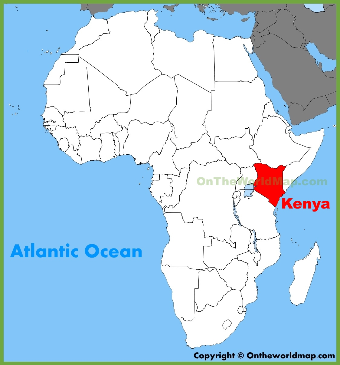 Map Of Kenya Africa Kenya location on the Africa map