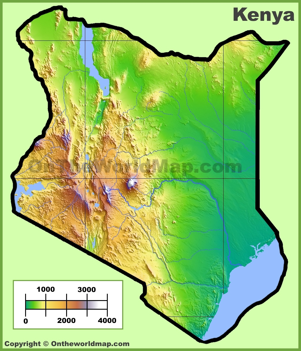 Kenya maps maps of kenya kenya physical map gumiabroncs Images