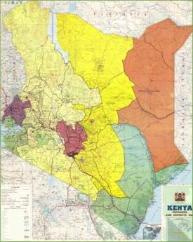 Large detailed map of Kenya