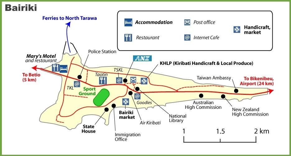 Bairiki map