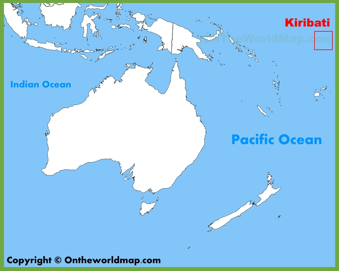 Kiribati location on the Oceania map