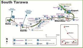 South Tarawa map