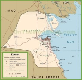 Kuwait political map