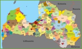 Administrative map of Latvia