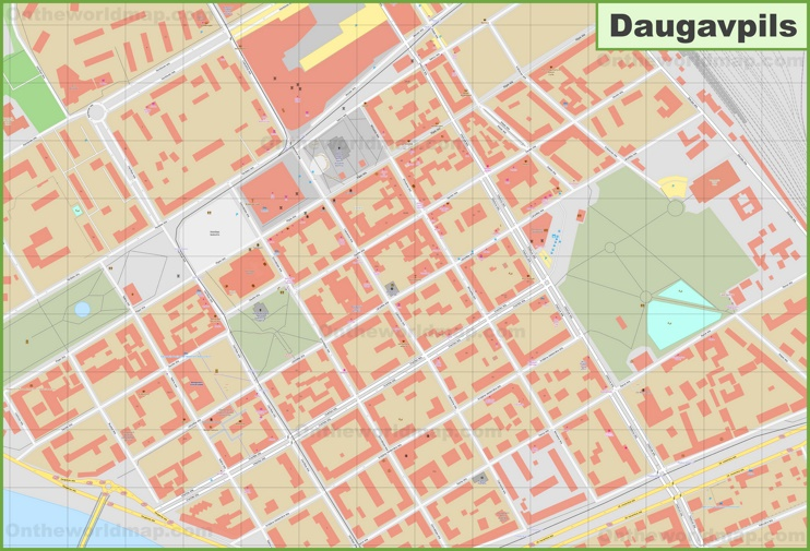 Daugavpils city center map