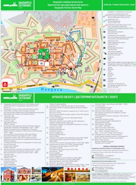 Daugavpils Fortress tourist map