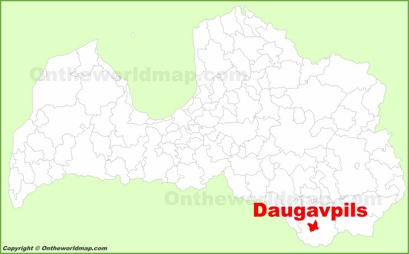 Daugavpils Location Map