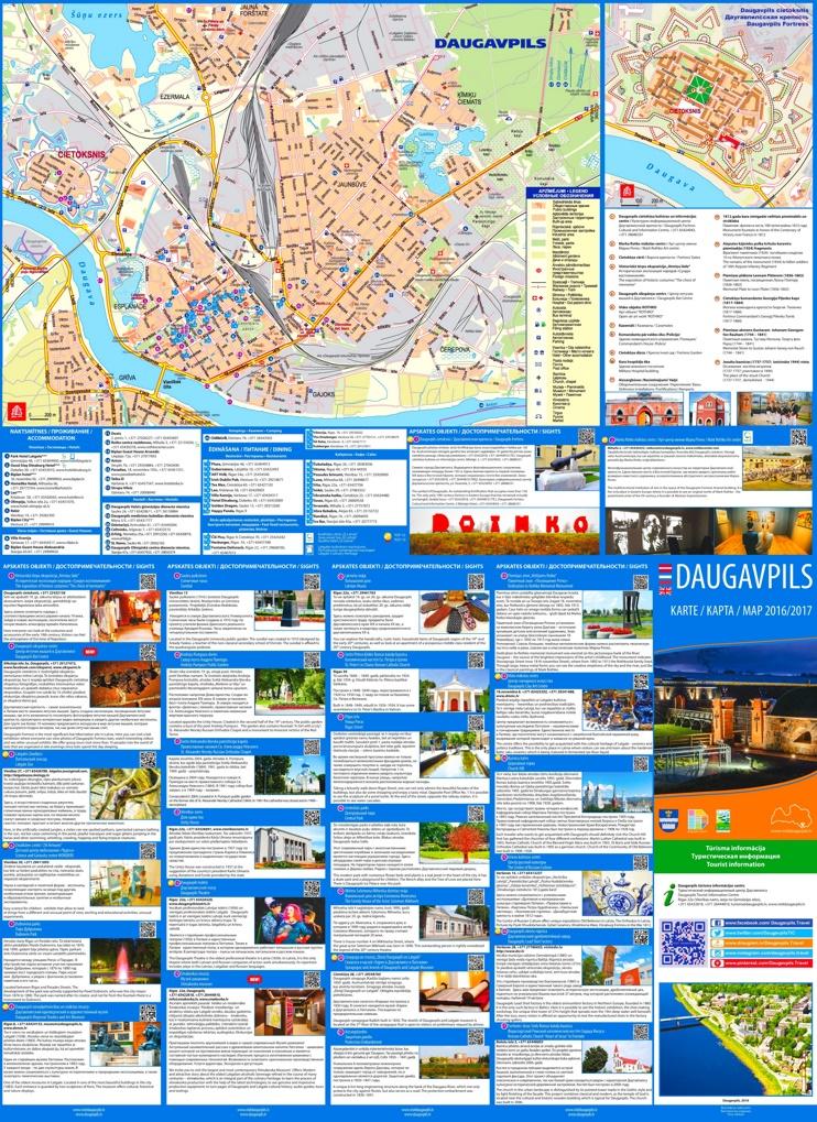 Daugavpils tourist map