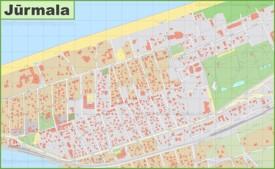 Jūrmala city center map