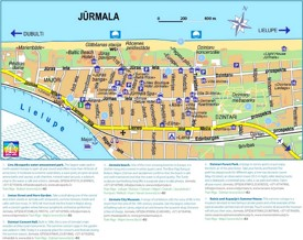 Jūrmala hotels and sightseeings map
