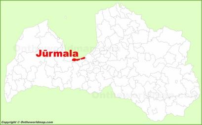 Jūrmala Location Map