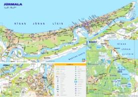 Jūrmala tourist map