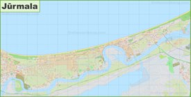 Large detailed map of Jūrmala